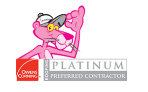 Owens Corning Roofing Contractor Platinum Award