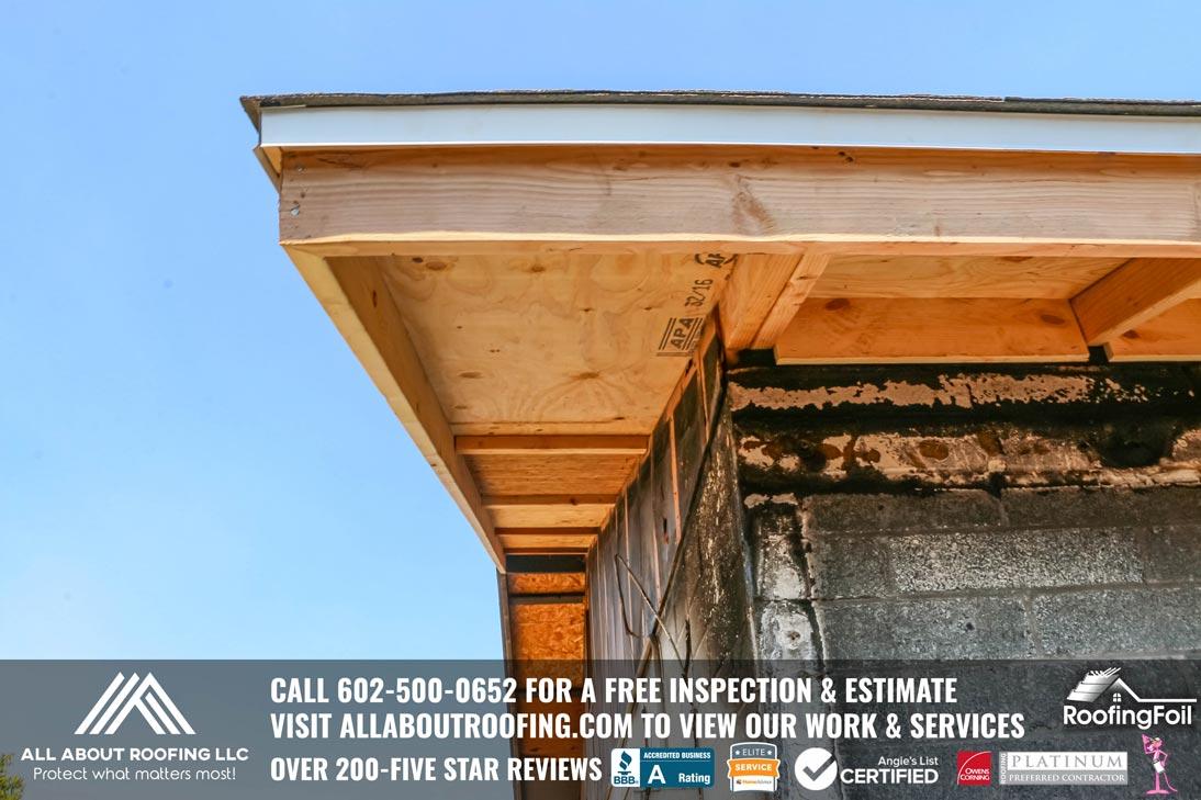 Fire Damaged Roof Sheathing Repair AZ