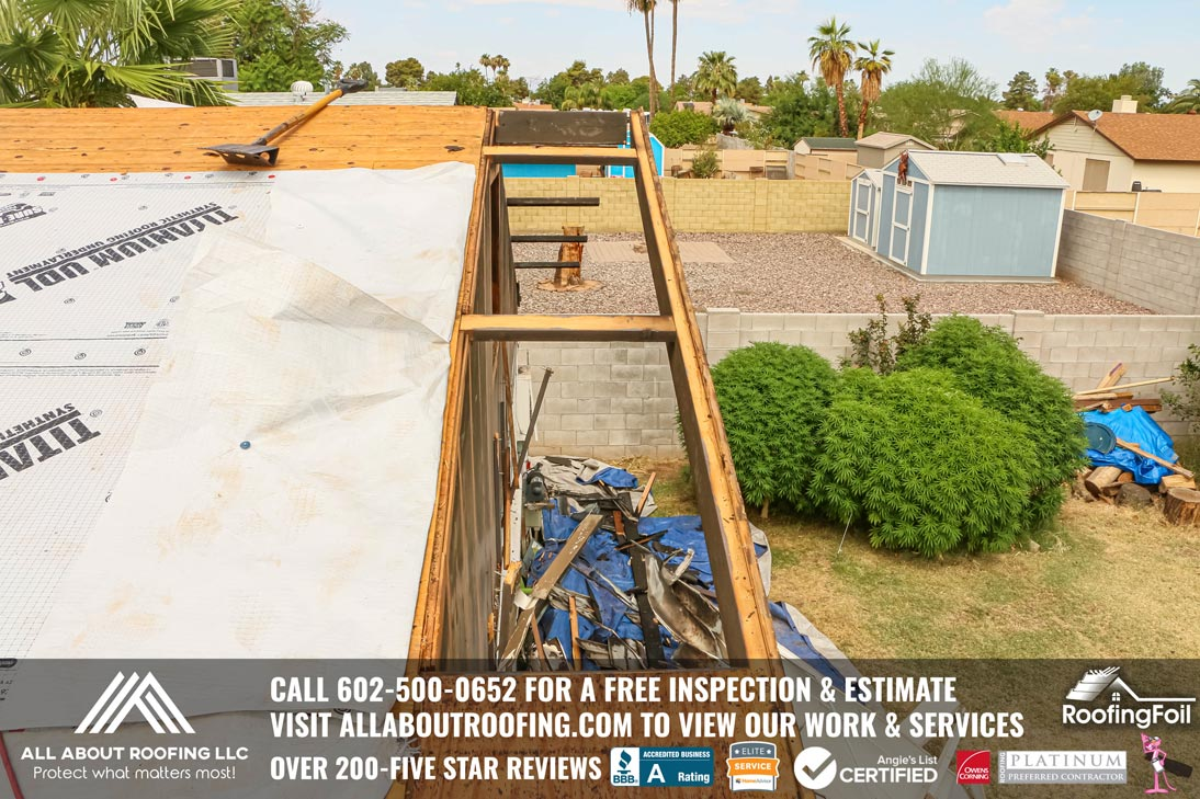Roof Damage Electrical Fire Scottsdale
