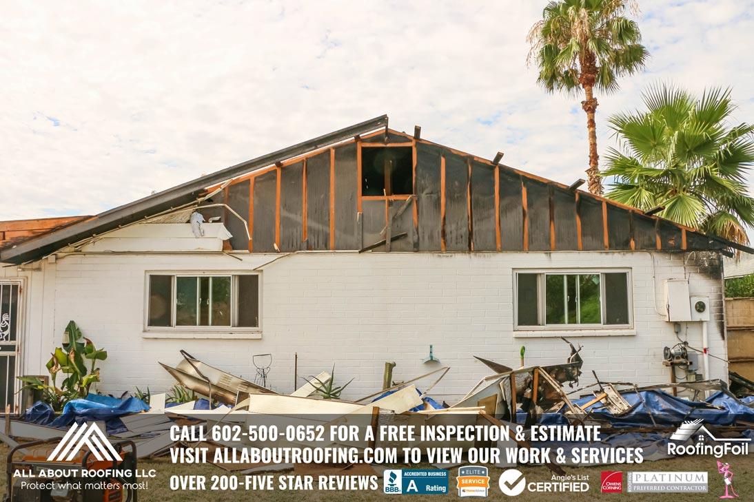 Roof Damage Electrical Fire Surprise AZ